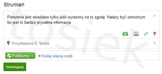 Dodawanie lokalizacja w Google+