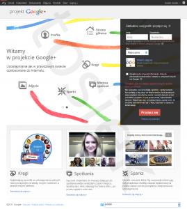 Formularz rejestracji bez zaproszenia Google Plus
