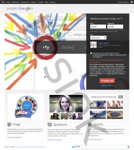 Rejestracja w Google+