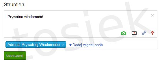 Prywatna wiadomość Google+