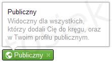 Publiczny wpis Google+