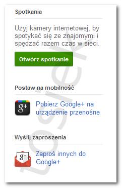 Przycisk Zaproś innych do Google Plus